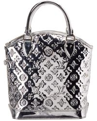 931b8dc516a4 Louis Vuitton - Limited Edition Silver Monogram Miroir Leather Lockit - Lyst