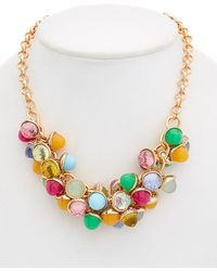 Betsey Johnson - Brooklyn Cz Multi-stone Shakey Frontal Necklace - Lyst