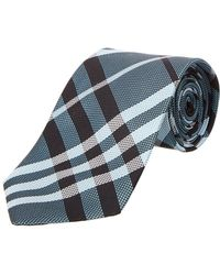 Burberry - Clinton Textured Classic Check Tie - Lyst