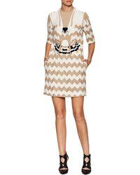 Valentino - Eagle Striped Flared Dress - Lyst