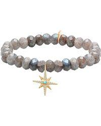 Gabi Rielle - 22k Over Silver Labradorite & Cz Bracelet - Lyst