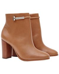 Reiss - Zoe Leather Ankle Boot - Lyst