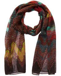 Missoni Wool, Silk & Cashmere-blend Scarf - Blue