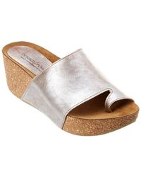 Donald J Pliner - Ginie Leather Wedge Sandal - Lyst