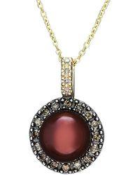 Effy - Fine Jewellery 14k 0.25 Ct. Tw. Diamond & 8mm Pearl Necklace - Lyst