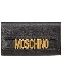 Moschino - Logo Leather Continental Wallet - Lyst