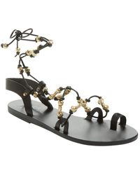 36428c360 Lyst - Diane Von Furstenberg Estonia Leather Sandal in Black