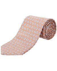 Façonnable - Beige Paisley Silk Tie - Lyst