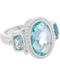 Judith Ripka - Sanibel Silver 7.30 Ct. Tw. Gemstone Ring - Lyst