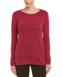 Lafayette 148 New York - Cable Cashmere Jumper - Lyst