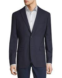 DKNY - Slim-fit Tonal Grid Wool Blazer - Lyst