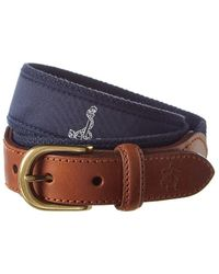 Brooks Brothers - Embroidered Leather Belt - Lyst