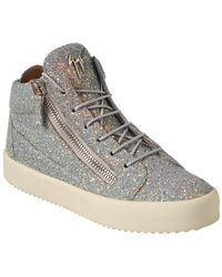 Giuseppe Zanotti - Glitter Leather High-top Sneaker - Lyst
