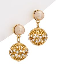 Carolee - Union Square 12k Drop Earrings - Lyst