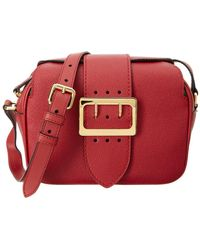 Burberry - Small Buckle Leather Crossbody - Lyst