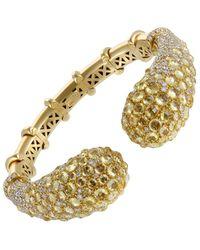 Mikimoto - Mikimoto 18k 36.21 Ct. Tw. Diamond & Sapphire Bracelet - Lyst