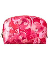 Louis Vuitton - Pink Ikat Flower Vernis Leather Pochette Cosmetique - Lyst