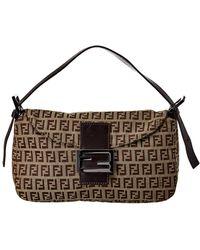 Fendi - Brown Zucchino Canvas Baguette Bag - Lyst c72a00b83fe4f