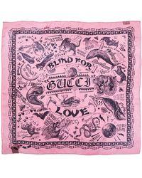Gucci - Flora Snake Vintage Print Wool & Silk Blend Shawl - Lyst