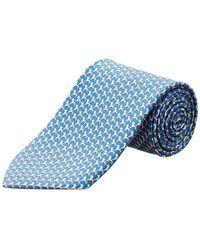 Ferragamo - Blue Rocking Horse Silk Tie - Lyst