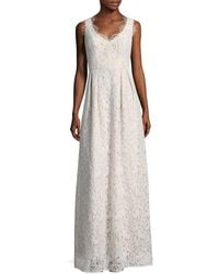 Shoshanna - Solid Embroidered Lace Gown - Lyst