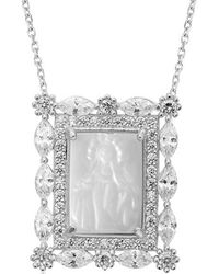 Gabi Rielle - Silver Mother-of-pearl & Cz Necklace - Lyst