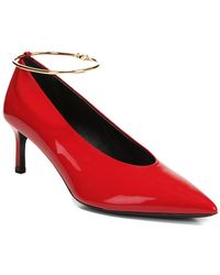 f4217a5edfcd6 Via Spiga - Women s Bailey Pointed Toe Patent Leather Mid-heel Pumps - Lyst