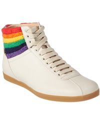 Gucci - Rainbow Leather High-top Sneaker - Lyst