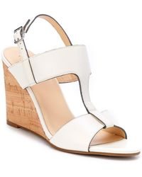 Cole Haan - Adrienne Leather Wedge Sandal - Lyst
