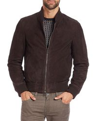 Saks Fifth Avenue - Collection Suede Bomber Jacket - Lyst