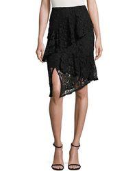 Lea & Viola - Layered Lace Skirt - Lyst