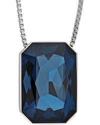 Swarovski - Crystal If Verso Plated Necklace - Lyst