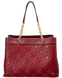 Tory Burch - Fleming Leather Triple-compartment Tote - Lyst