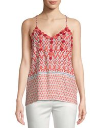 Christophe Sauvat - Christopher Sauvat Embroidered Printed Cami - Lyst