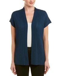 Lafayette 148 New York Pleated Silk-blend Vest