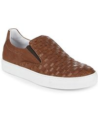 Bacco Bucci - Woven Leather Trainer - Lyst