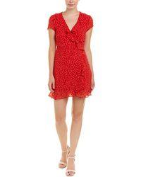 Bardot - Open-back Dot-print Ruffle Mini Dress - Lyst