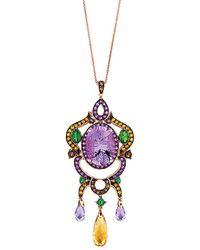 Le Vian - ? 14k Rose Gold 13.66 Ct. Tw. Gemstone Necklace - Lyst