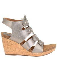 Söfft - Carita Leather Wedge Sandal - Lyst