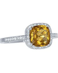 Diana M. Jewels - . Fine Jewellery 14k 1.45 Ct. Tw. Diamond & Citrine Ring - Lyst