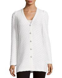 St. John - Cable-knit Cardigan - Lyst