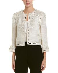 Monique Lhuillier - Silk Jacket - Lyst