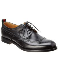 Gucci - Leather Lace-up Brogue Oxford - Lyst
