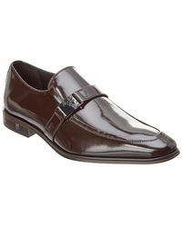2a3a7914188 Lyst - Versace Versace Collection Brushed Leather Penny Loafer in ...