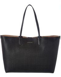 Alexander McQueen - Medium Embossed Leather Shopper Tote - Lyst