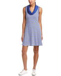 Three Dots - Stripe Cowl Shift Dress - Lyst