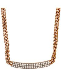 Swarovski - Crystal Vio Plated Necklace - Lyst