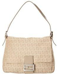 0bdc90937a8c Fendi Big Mamma Leather Shoulder Bag in Natural - Lyst