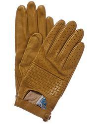 Portolano - Bronze Olive Silk-lined Leather Gloves - Lyst