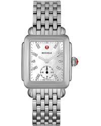 Michele - Deco Mid Diamond Dial Watch - Lyst